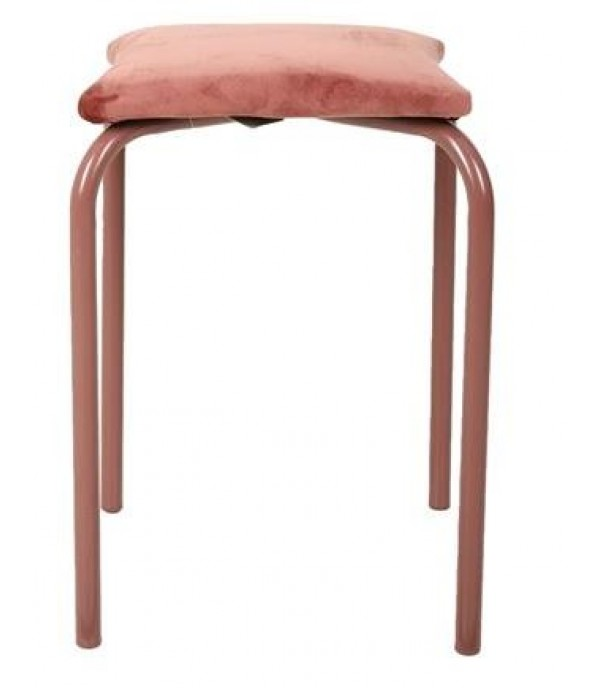 FURDINI  MULTI PURPOSE CHAIR METAL VELVET PINK