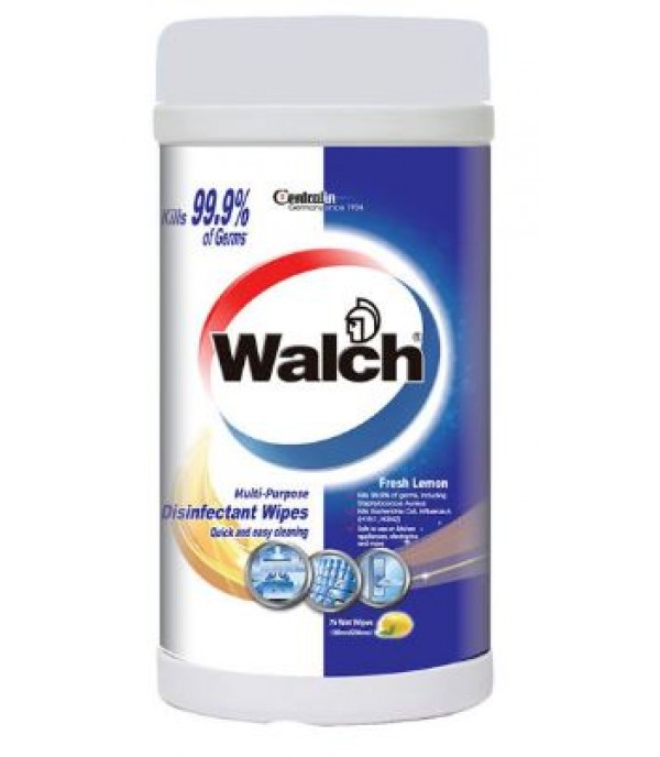 WALCH MULTI PURPOSE DISINFECTANT WET WIPES 75PCS – HIGH EFFICACY