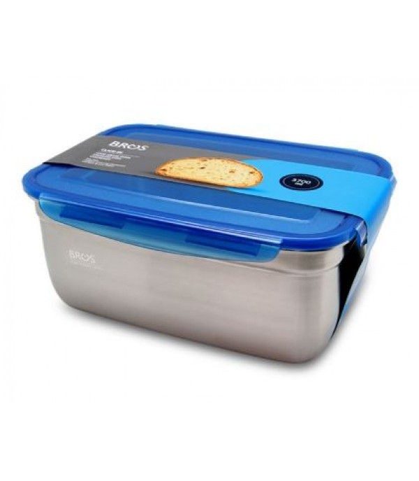 BROS SS RECTANGLE CONTAINER 3700ML CI-A3700