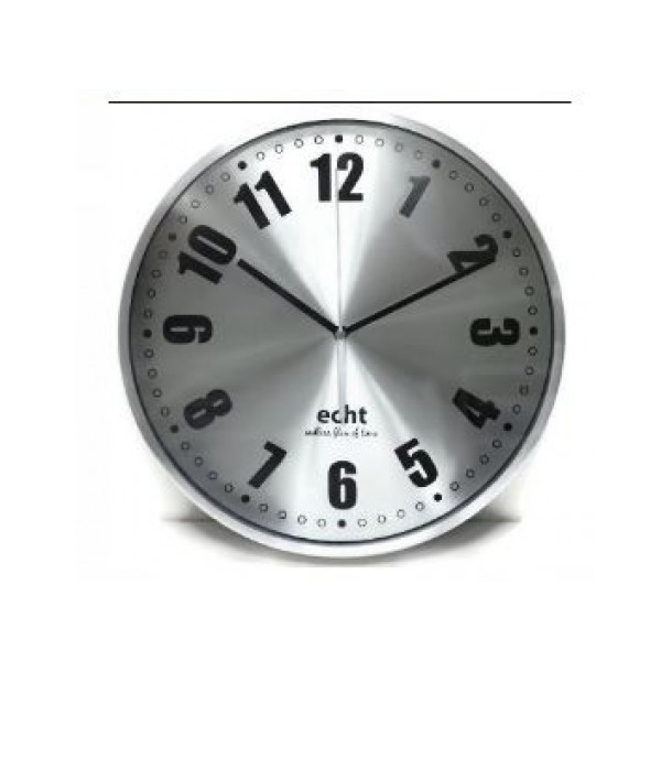 "ECHT 12"" WALL CLOCK E246-GREY CNMT"