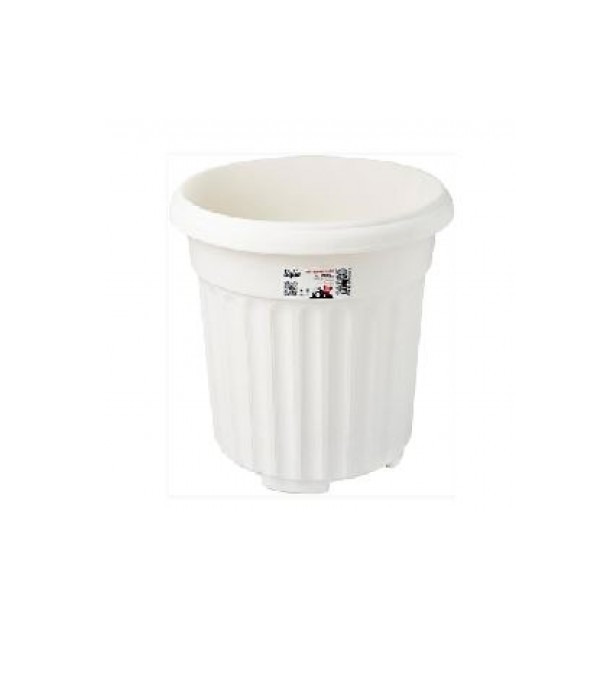 BABA ROUND POT RD-310 WHITE
