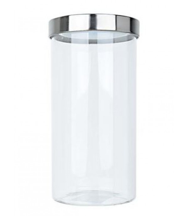 CANISTER GLASS 0.7L SCREW LID ROLLY