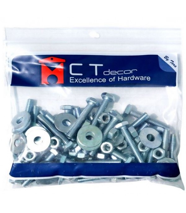 BY TORA BOLT/NUT 1/4X2-1/2IN 0.5KG WH