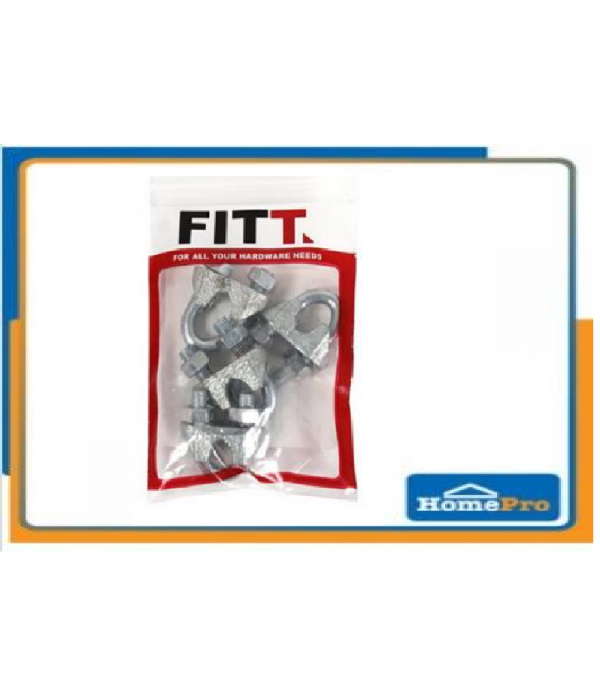 """FITT 3/16"""" WIRE ROPE CLIPS 4PCS"""