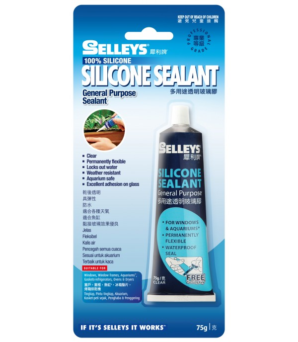 SELLEYS SILICONE SEALANT 75G CLEAR