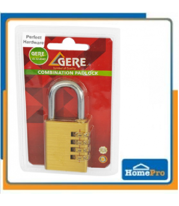 BRASS DIGIT PADLOCK GERE CL32-204D