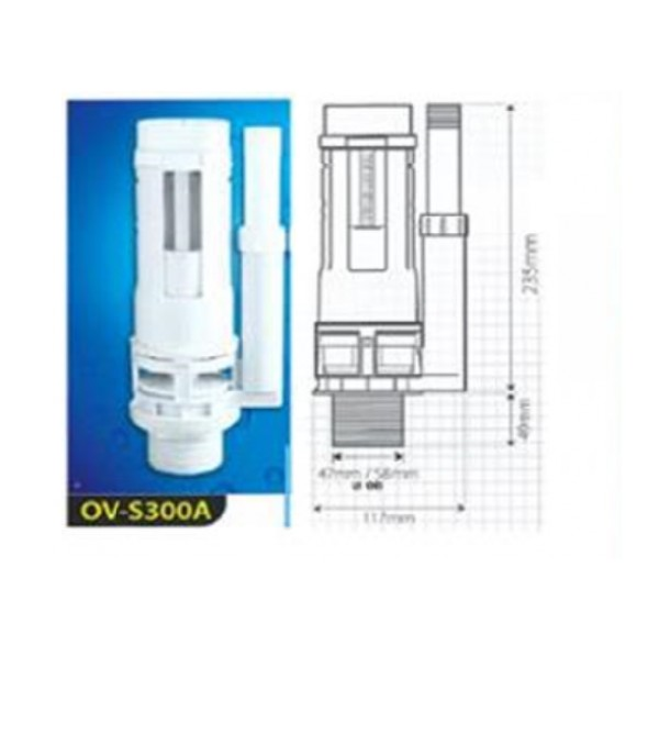 WATER OUTLET OV-S300A 50MM DUAL FLUSH