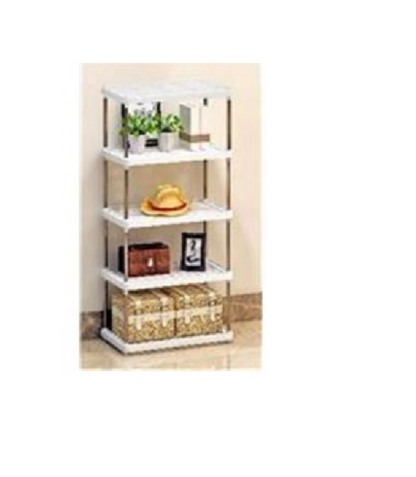 5 TIER SHELVES SIMPLE 42x22x105CM WH