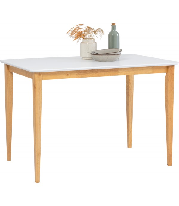 DINING TABLE CHARMANT 110CM WHITE