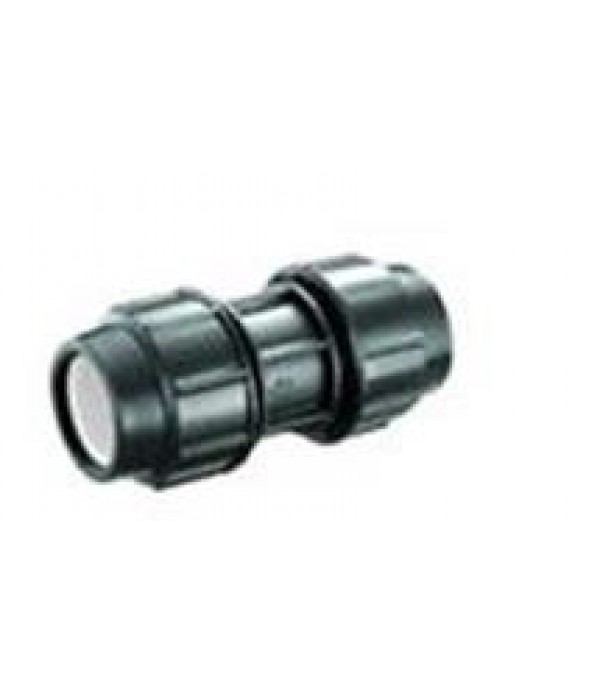 POLY STRAIGHT COUPLER 25MM x 25MM