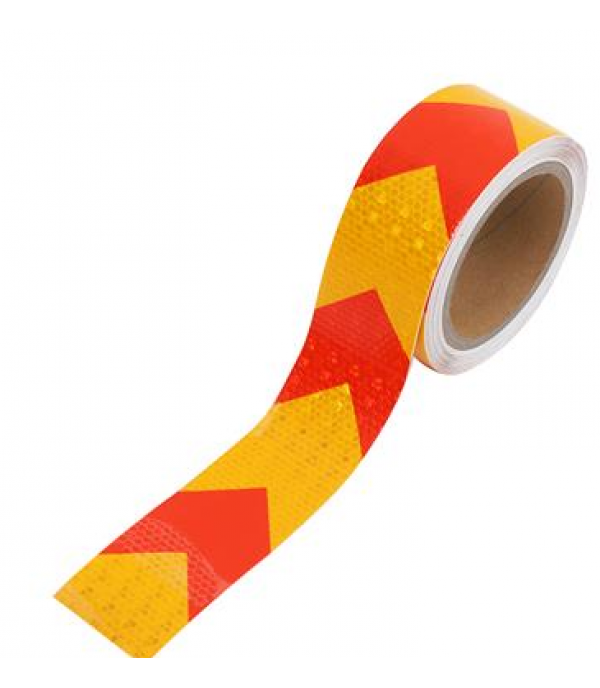 RIGHT PVC REFLECTIVE TAPE 5CMX10M RED/YELLOW