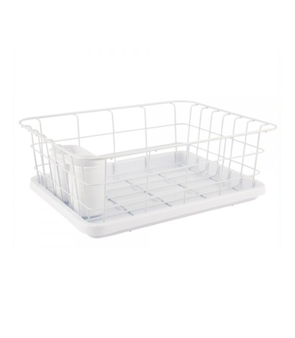 HOMEPRO EKONO DISH DRAINER STAND UNIT COATING WIRE 3062E W41.5xD32xH15 CM WHITE