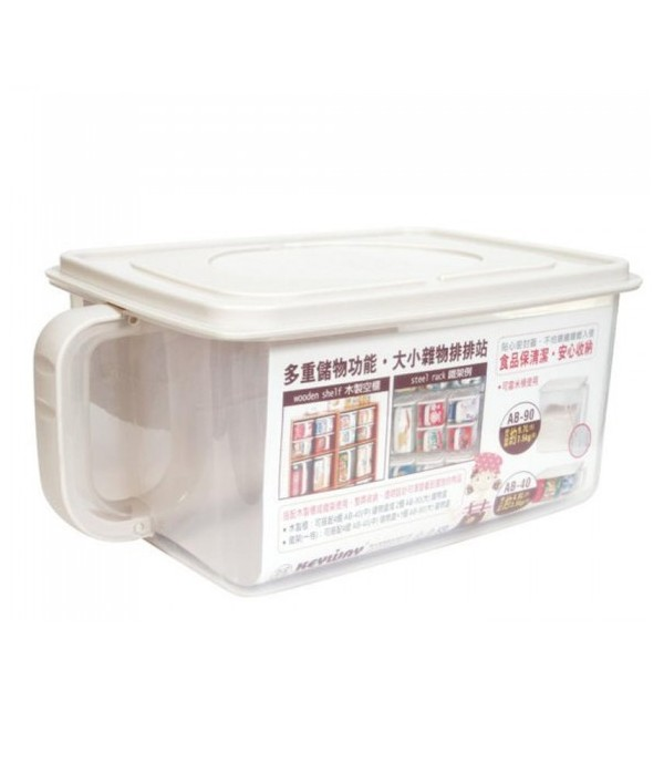KEYWAY RICE CONTAINER WITH HANDLE 4.8L W29.9xD19.5xH13.4 CM CLEAR