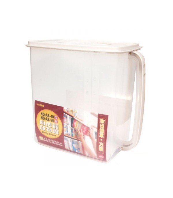 KEYWAY RICE CONTAINER WITH HANDLE 9.7L 26.4x19.5x29.9 CM CLEAR