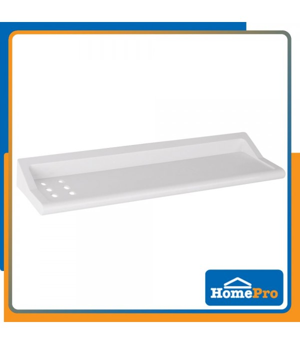HOMEPRO BATHTIME BATHROOM PLASTIC SHELF 1 TIER RA 1253B W40xD10xH7 CM WHITE