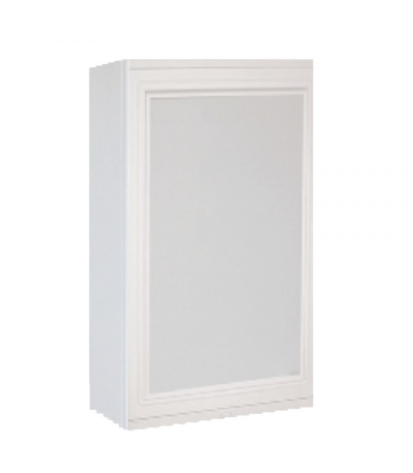 QUEEN BATHROOM CABINET WITH MIRROR THE SPACE ABS PLASTIC SH-MQ-SPACE-WT W50xD12xH75 CM WHITE