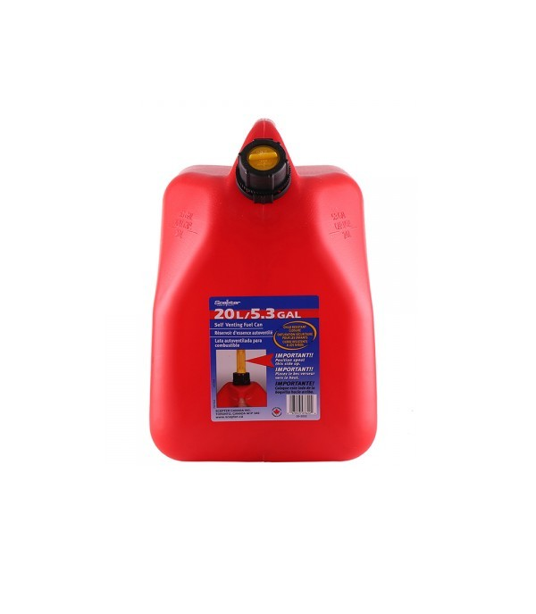 SCEPTER GAS CAN STORAGE PLASTIC 0-7622 20L RED