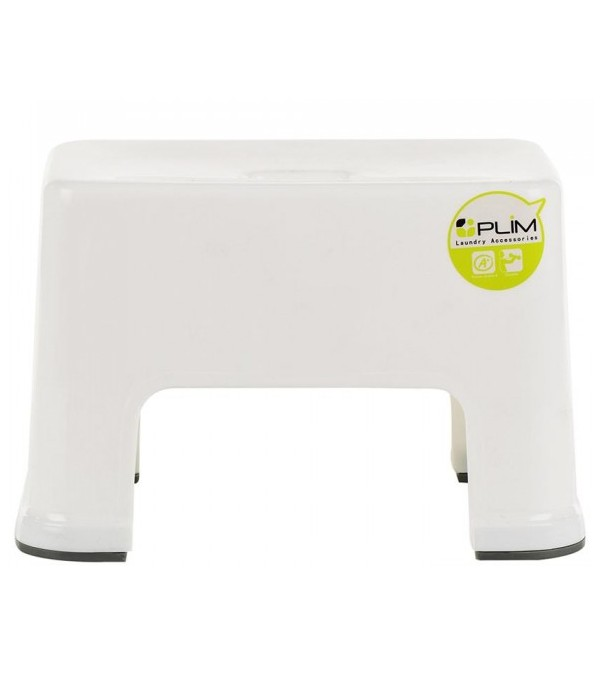 HOMEPRO PLIM CHAIR PLASTIC SQUARE W31xD20.4xH19.5 CM WHITE