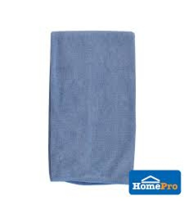 HOMEPRO ACCO CLEANING CLOTH TERRY ANTI-BACTERIA MICRO FIBER W40xL60 CM BLUE