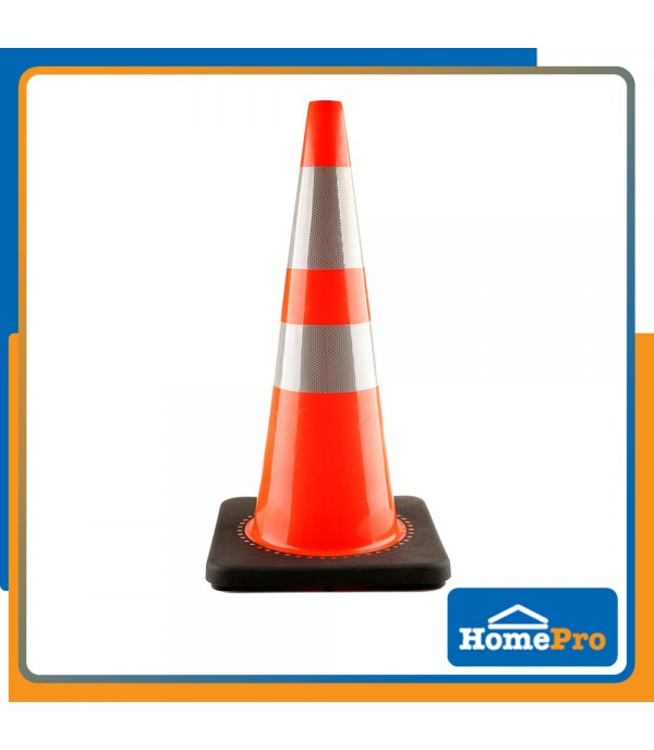RIGHT PVC TRAFFIC RUBBER BASE W34xD34xH70 CM ORANGE