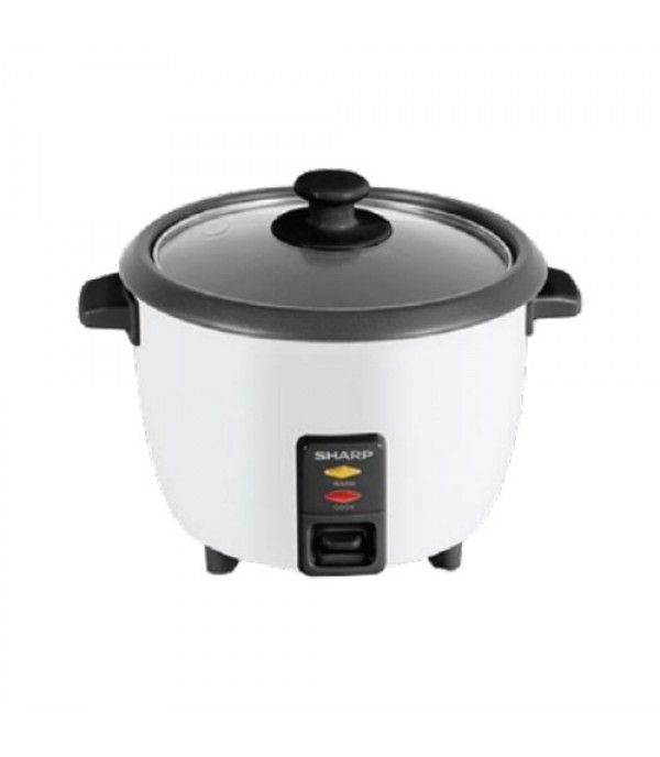SHARP 1L RICE COOKER CONVEN KSH108GWH WHITE