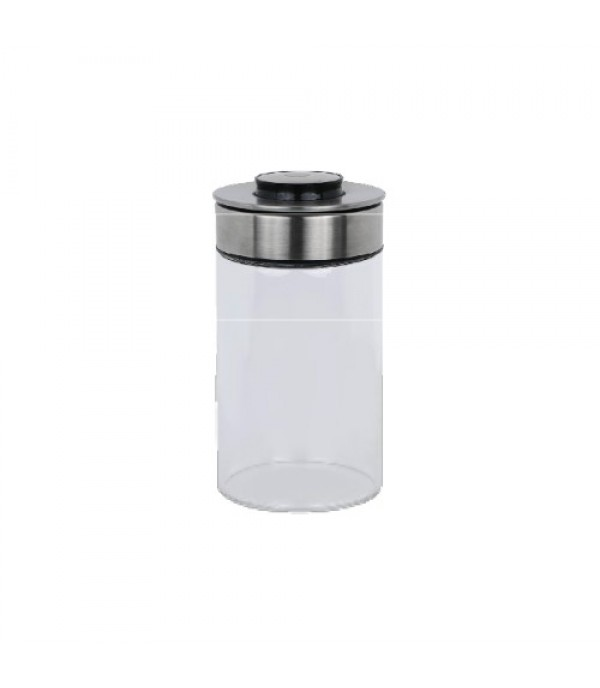 CANISTER GLASS 1.0L PRESS LID PURE