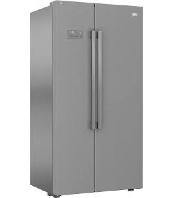 BEKO 640L SIDE BY SIDE DOOR REFRIGERATOR INVERTER ASL141X SILVER