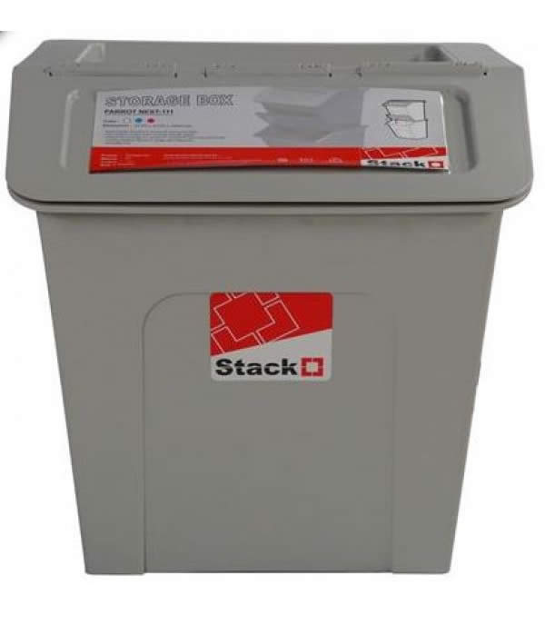 STORAGE BOX STACKO PARROT NEST WITH LID 27L 37.7X41.2X39CM GRAY
