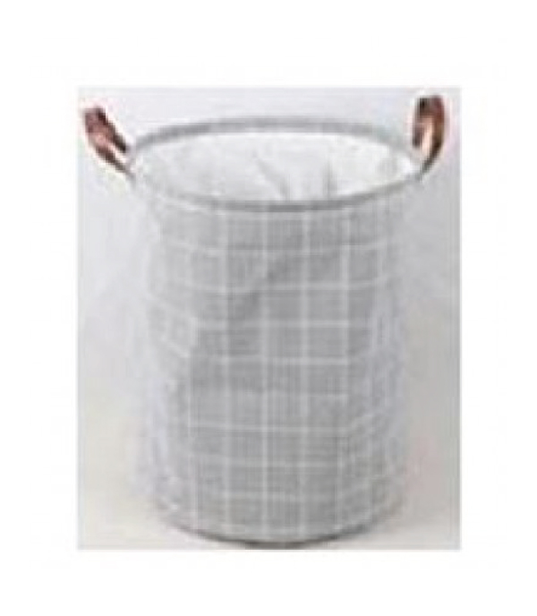 BASKET ROUND SIMPLE LINE 40x50CM GRAY