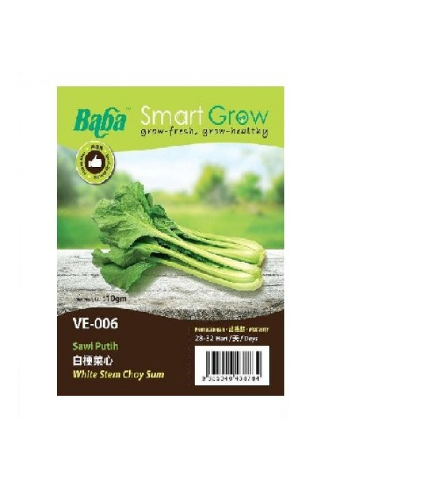 BABA VE-006 HK D.GREEN BIG STEM CHOY SUM