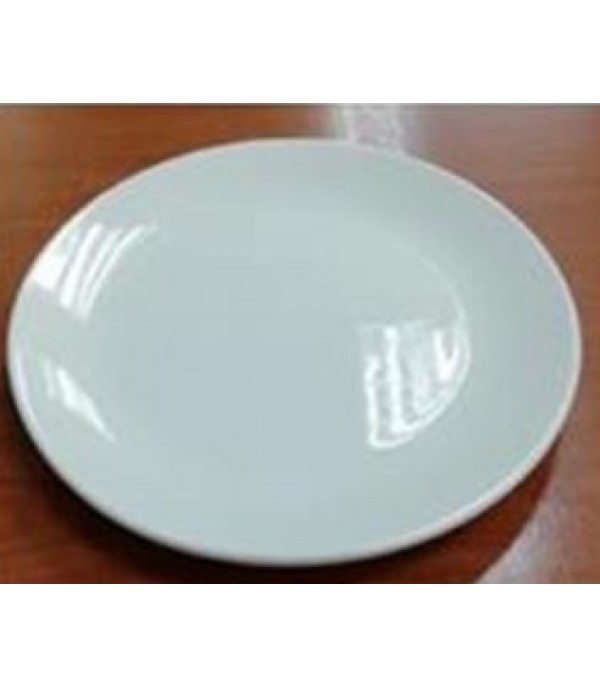 "DEEP PLATE PORCELAIN 10"" WHITE"